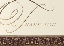 Filigree Border Thank You Cards
